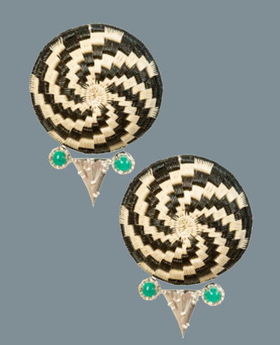 Darien Earrings - Black/Gold