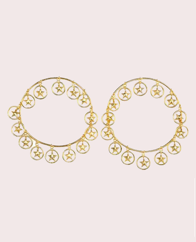 Multi Star Hoops Earrings