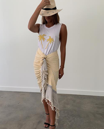 Tulum Skirt Yellow Cream