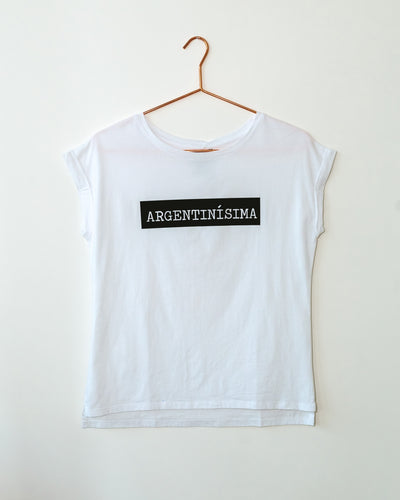 Argentinisima White T Shirt - Boho Hunter