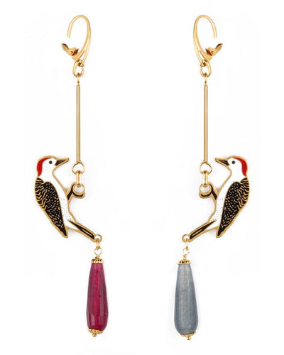 Woodpecker Earrings - Boho Hunter