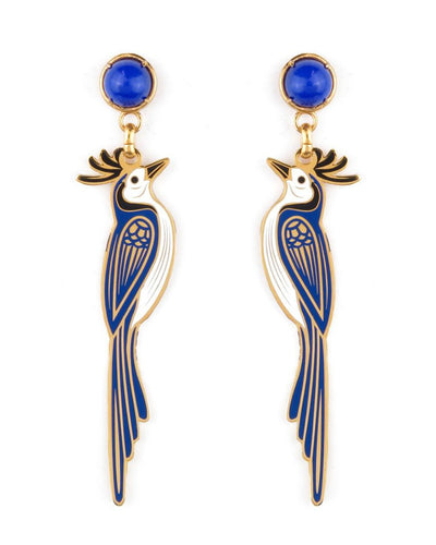 Blue Magpie Earrings - Boho Hunter