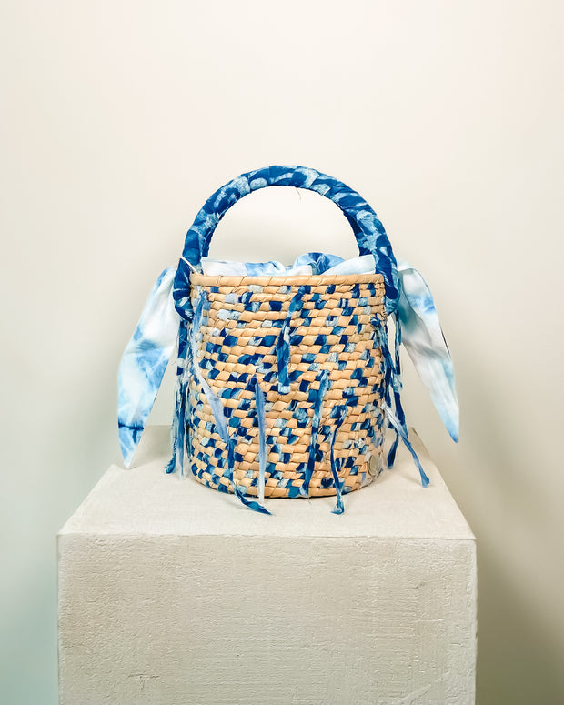 Bucket Bag Tejida Blue - Boho Hunter