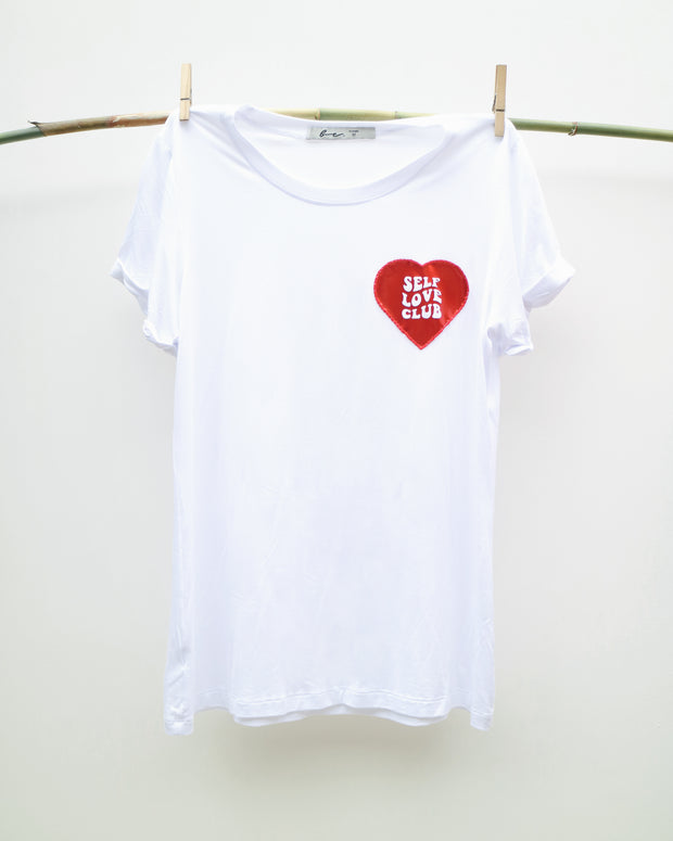 Self Love Club White T Shirt - Boho Hunter