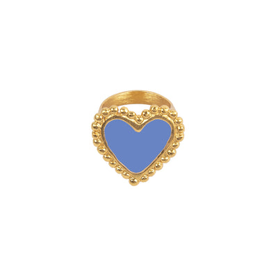 Blue Heart Ring - Boho Hunter