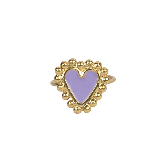 Purple Mini Heart Ring - Boho Hunter