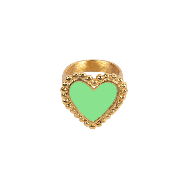 Green Heart Ring - Boho Hunter