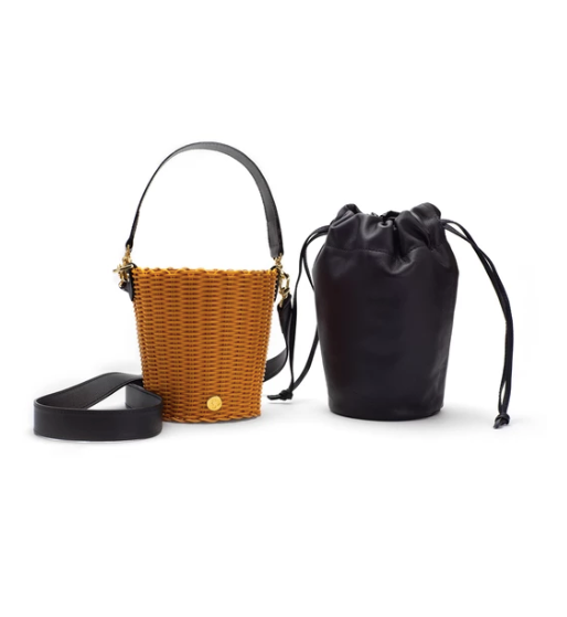 Leather Bucket Turmeric