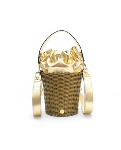 Leather Bucket Gold