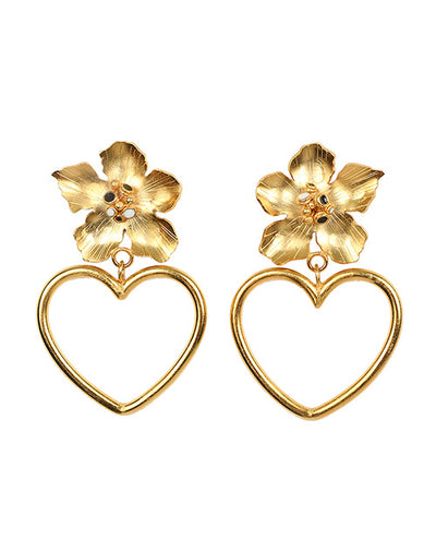 Flowers Heart Earrings