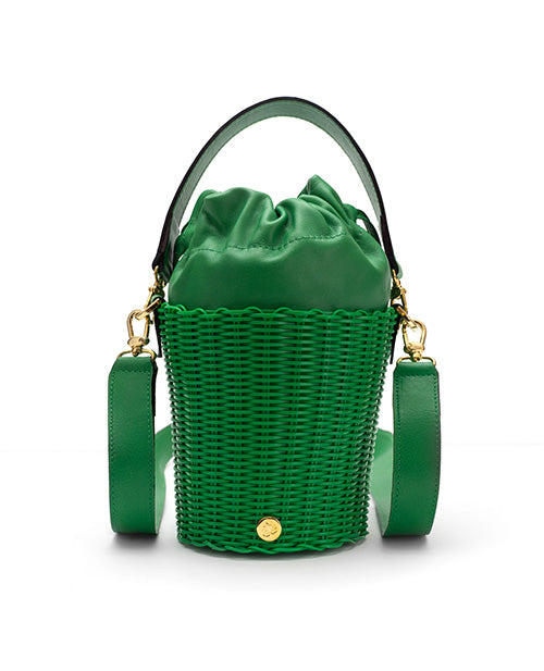 Leather Bucket Green
