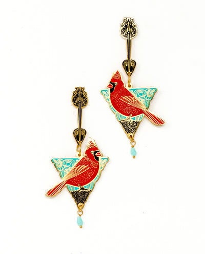 Cardinal Triangle Earrings