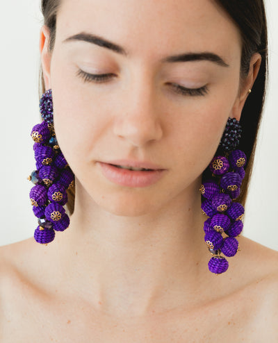 Canastos Earrings Purple