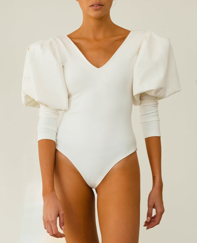 White Puff Sleeves Body