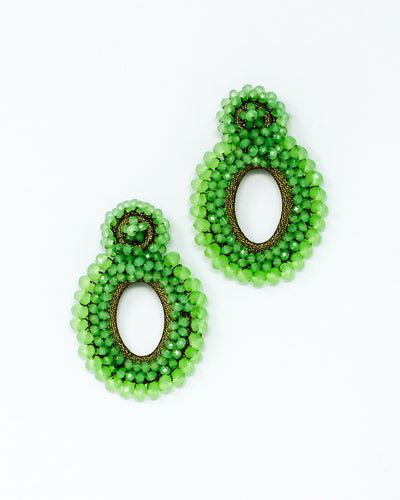 Primrose Earrings Green