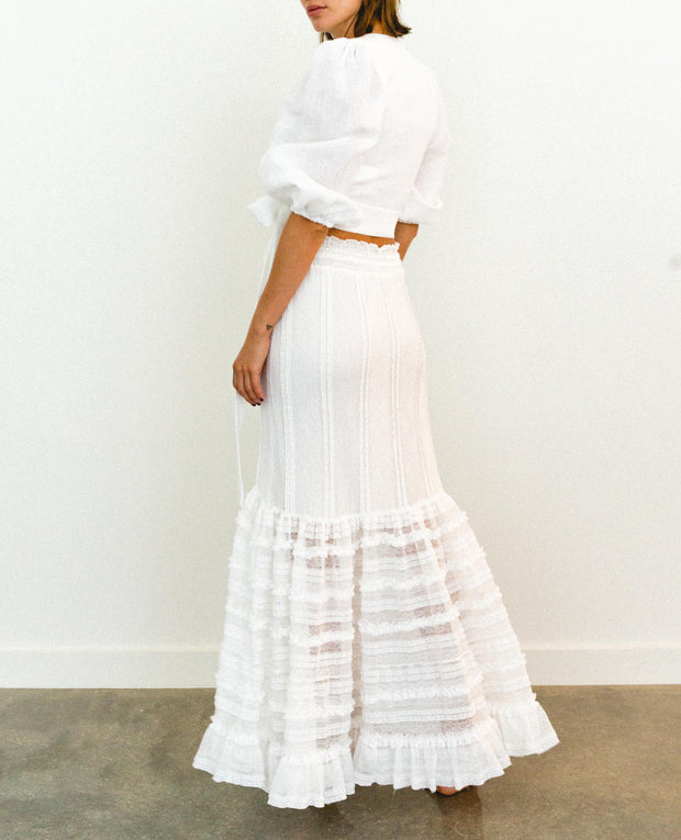 Malka Maxi Skirt White