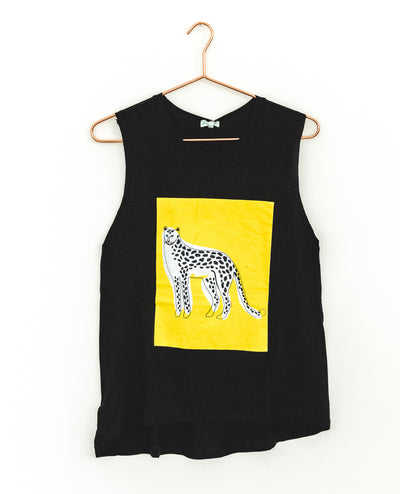 T-Shirt Cheetah Black