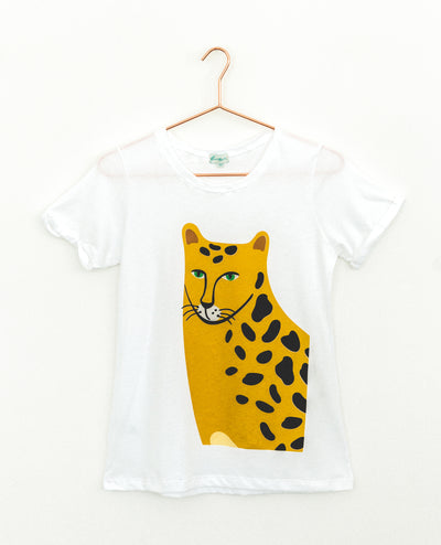 T-Shirt Cheetah Face Brown
