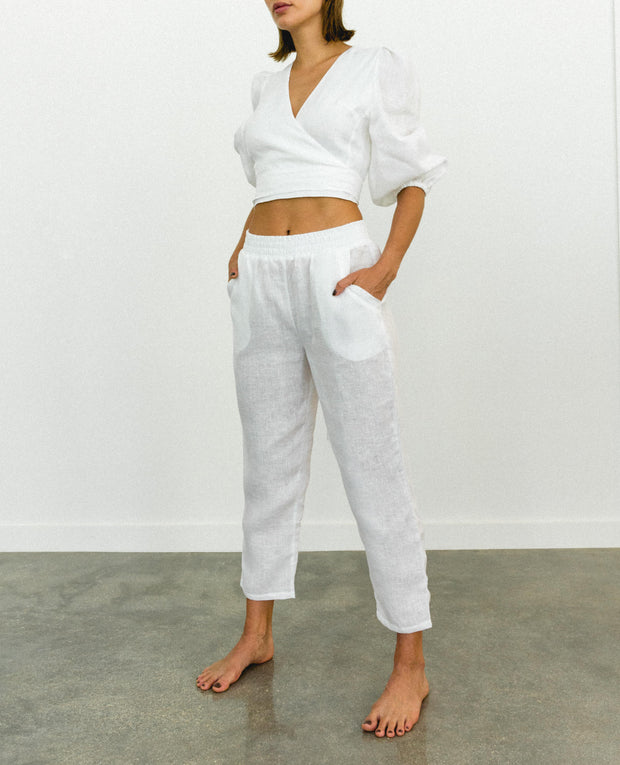 Fama Stella Pants White