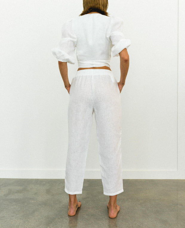 Lupe Front Bombacho Top White