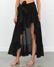 Flamenco Pareo Skirt Black