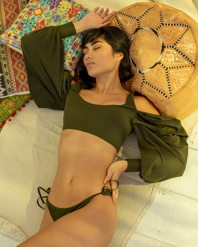 Pame Top Dark Olive - Boho Hunter