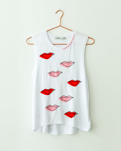 Mini Abstract Lips Tank Top