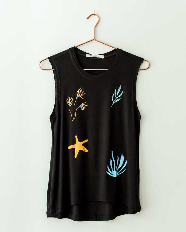 Plantas Marinas Tank Top Black