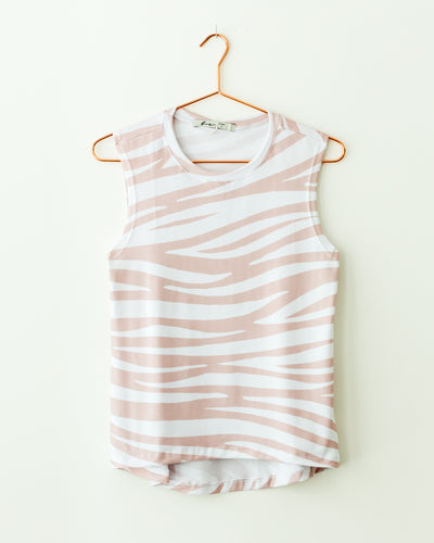 Zebra Nude Pattern Tank Top