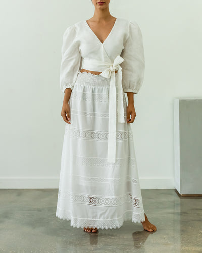 Flametta Skirt White
