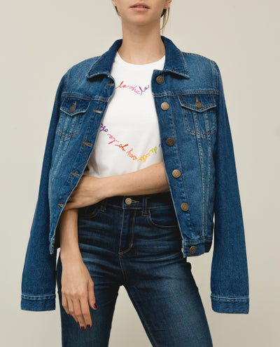 """Mi Fruta Favorita"" Denim Jacket"