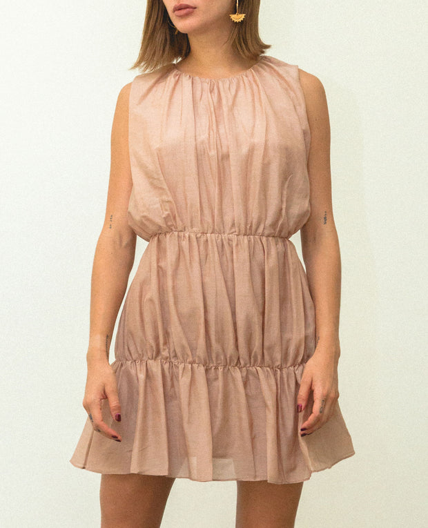 Malva Mini Dress Beige