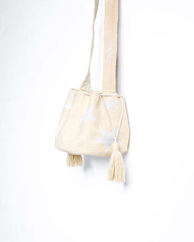 Beige with Light Blue Stars Bag - Boho Hunter