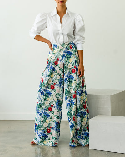 Magdalena Pants blue flowers