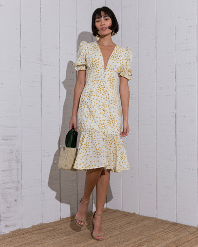 Daisy Dress Yellow - Boho Hunter