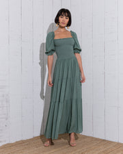 Begonia Green Dress - Boho Hunter