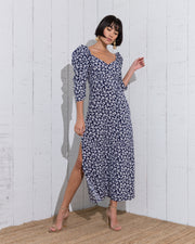 Larus Dress White and Blue - Boho Hunter