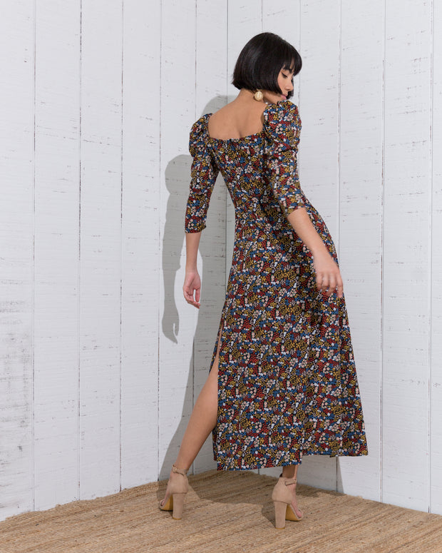 Larus Dress Multicolors Black - Boho Hunter