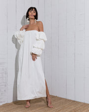 Makua Long Dress Ivory - Boho Hunter