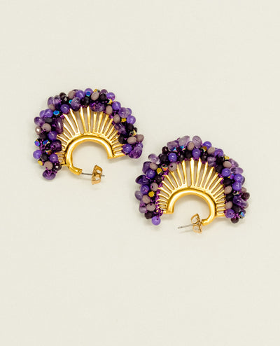 Candelaria Purple Earrings
