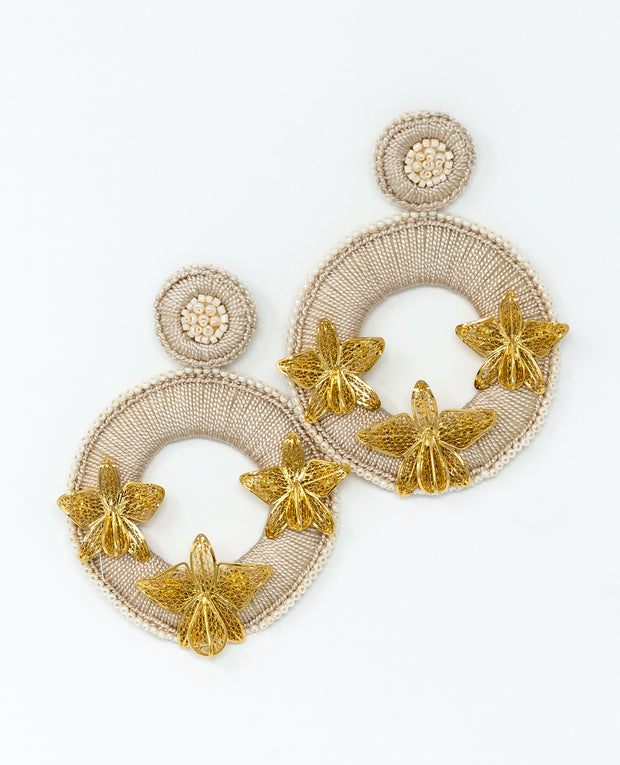 Magdalena  Earrings Ivory