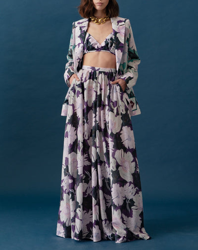 Jose Ignacio Skirt Floral Art Violet - Boho Hunter