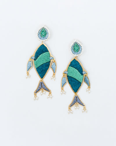 Agua Dolphin of Mangrove Earrings