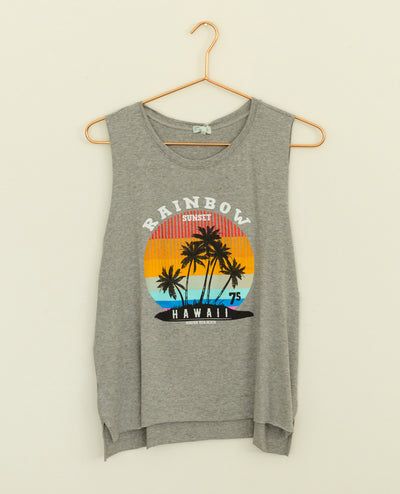 Tank Top Rainbow Sunset Grey