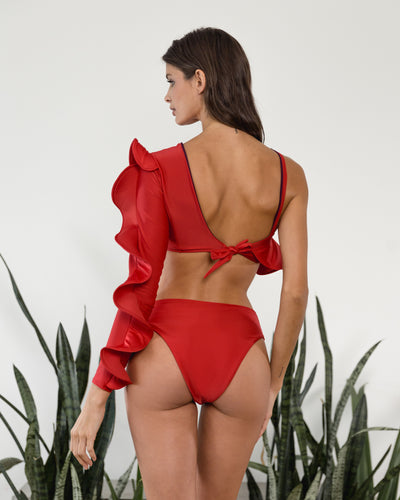 Wadara High Waist Bottom Red Cayenas - Boho Hunter