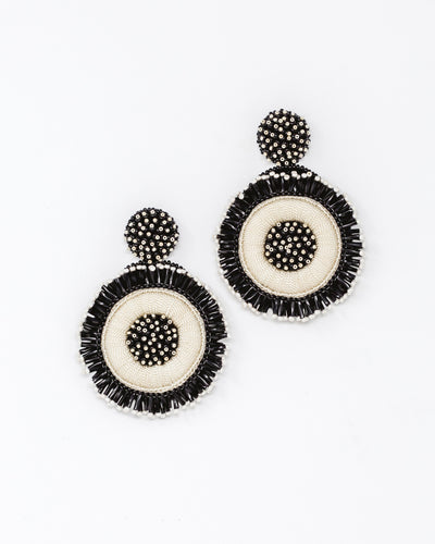 Greta Earrings Black/Ivory
