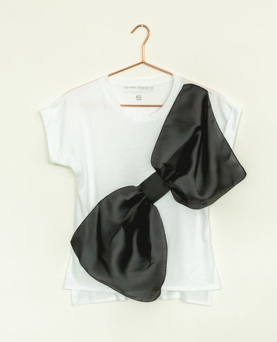 Gazar Bow Tee White/Black