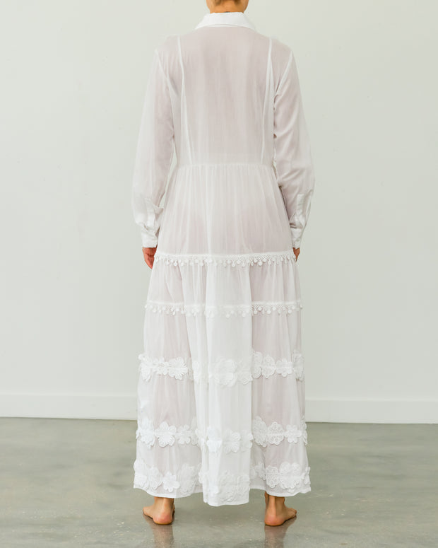 Isabella Cotton Long Dress White
