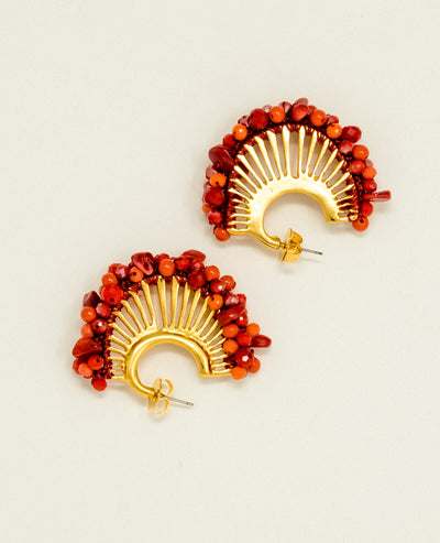 Candelaria Red Earrings
