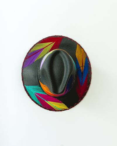 Palma Pluma Black Bright Hat